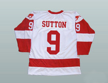 Hockey Jersey Custom 9 Derek Sutton Men Stitched Movie Throwback Hockey Jersey S-3XL White Red Free Shipping Viva Villa(China)
