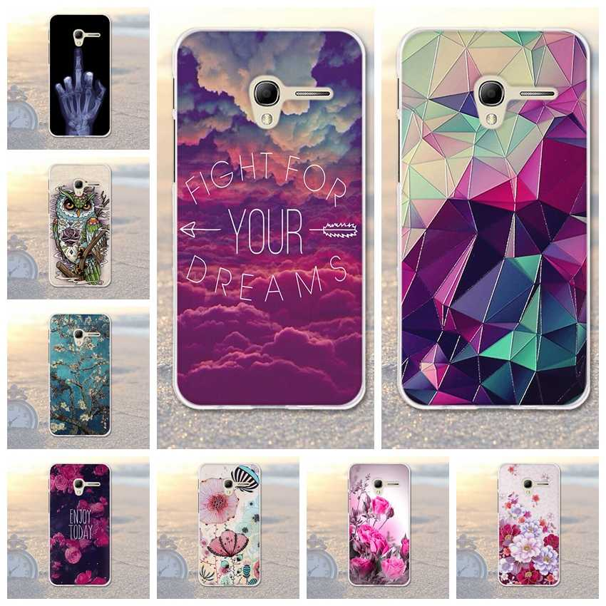 "Soft Silicon Cover Case For Alcatel One Touch Pop 3 5"" Case For Alcatel Pop 3 5.0"" 5015 5015D 5065A 5016A Printed Flower Bags"