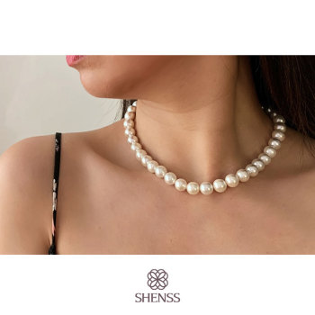 Elegant Silver 925 Jewelry Classic Temperament Wedding Necklace 4-10mm Shell Pearl Cream 925 Sterling Silver Chain for Women elegant silver 925 jewelry classic temperament cream necklace 8mm pearl 925 sterling silver chain for women