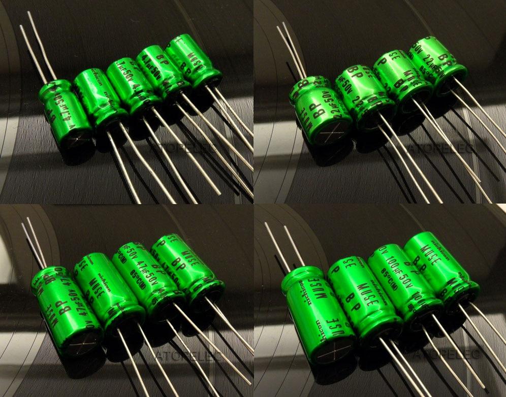 6 pcs Nichicon MUSE ES 10v 470uf Audio Grade Bi-polar