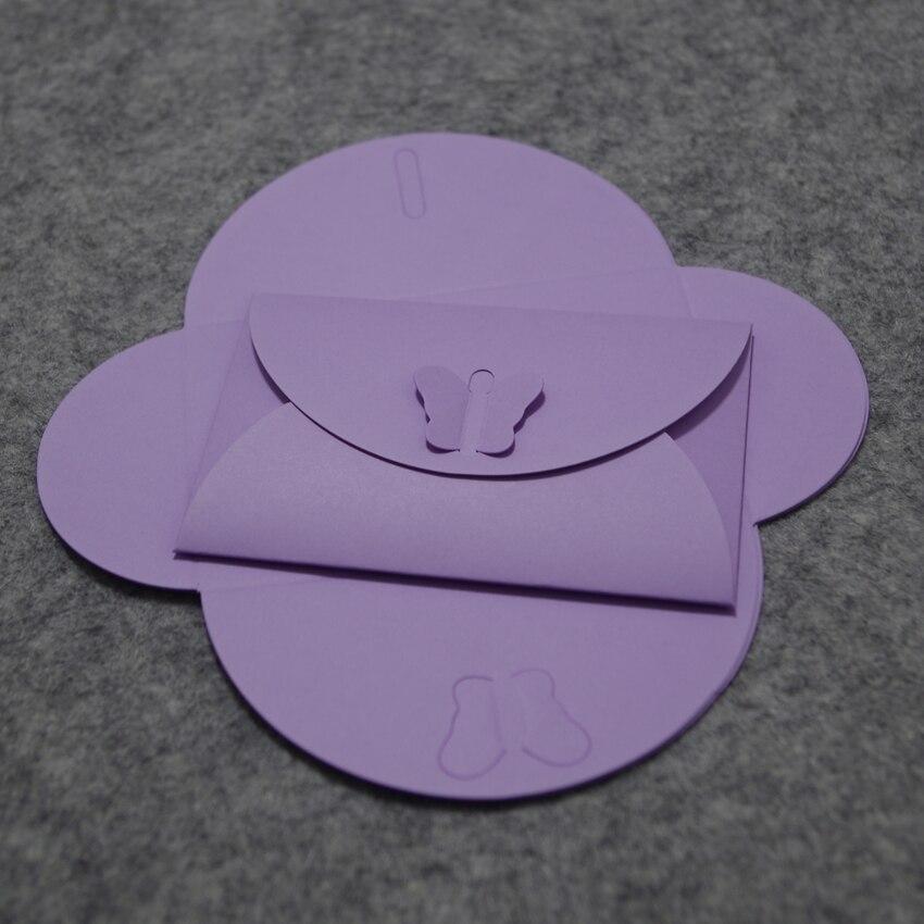 100 unids 10.5x7 cm perla mariposa colorida Linda corchete sobres ...