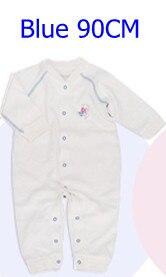 Комбинезоны для маленьких мальчиков и девочек, коллекция года, Одежда для новорожденных и малышей, детский хлопковый комбинезон с длинными рукавами, Красивый хлопковый комбинезон унисекс - Цвет: 90CM BLUE