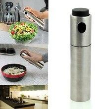 1Pcs Stainless Steel Spray Pump Fine Mist Olive Pump Spray Bottle Oil Sprayer Pot Cooking Tool