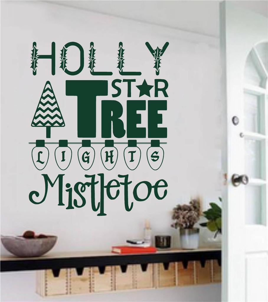 Genial Más Nuevo Navidad Pared Tipo De Pared Mural Letras Vacaciones Mural Vinilo  Navidad Decoración Para El Hogar Pared Stickerd 146