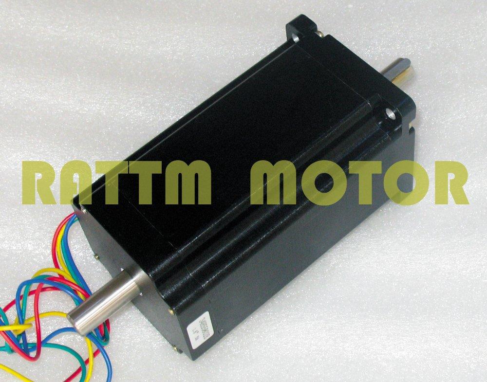 Quality (Dual shaft)NEMA34 1600 Oz-in/5.0A CNC stepper motor stepping motor quality dual shaft nema34 154mm 1600 oz in 5 0a cnc stepper motor stepping motor