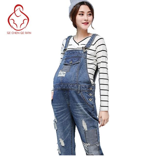 Le Confort à la mode Jeans Femme Enceinte Réglable Jeans Ceinture Pantalon  De Maternité Pantalon Pantalons 5d95d36fd15