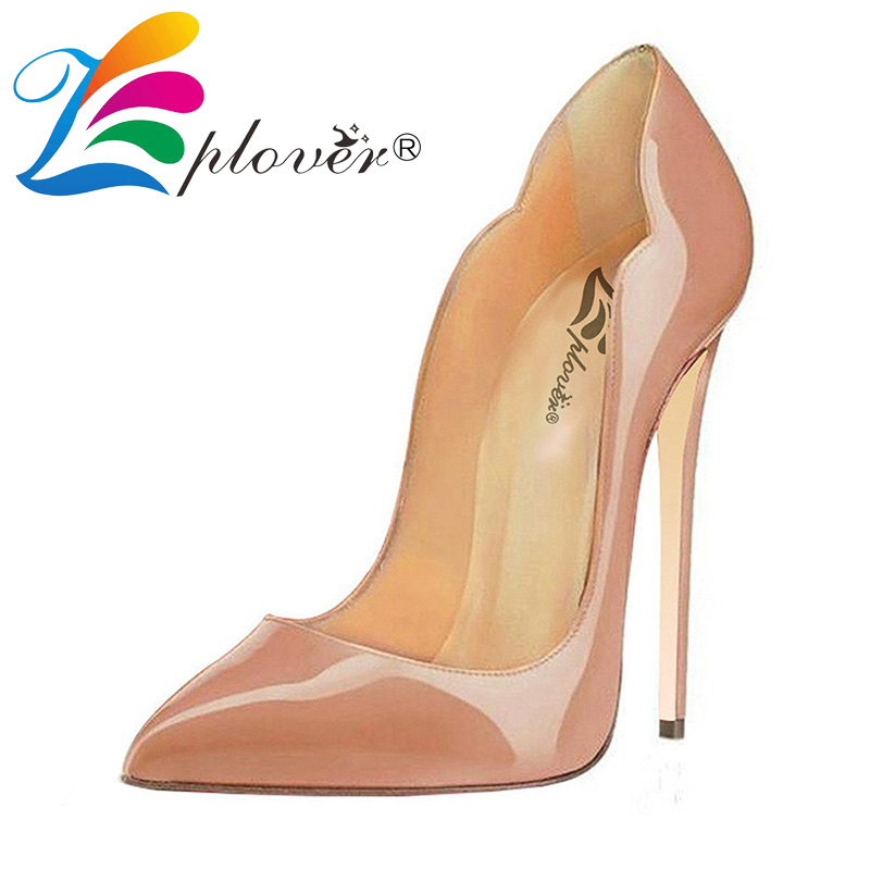 Zplover Extreme High Heels Shoes Woman Pumps Sexy Patent Leather Pointed Toe Party Ladies Shoes Plus Size Women Shoes High Heel free shipping zonesunlt 50 round plastic bottle label machine round bottle labeling machine round bottle sticker machine