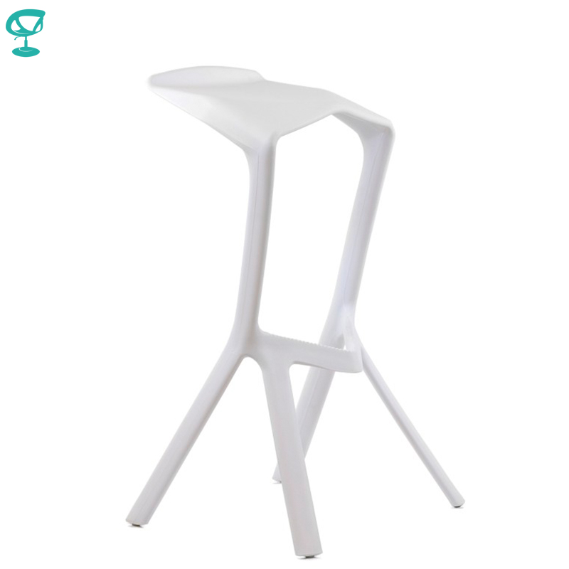 95191 Barneo N-227 Plastic High Kitchen Breakfast Bar Stool Swivel Bar Chair White Free Shipping In Russia