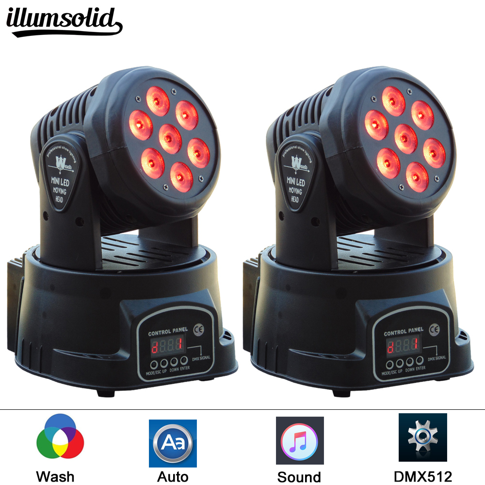 (2 pieces/lot)Fast Shipping LED Moving Heads Mini Wash 7x12w RGBW Quad with advanced 14 Channels China Led Moving Head Light