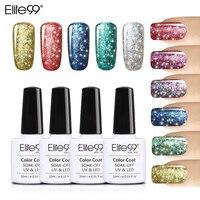 Elite99 Super Bling Gel Nail Polish Pure Soak Off UV LED Starry Gel Polish UV LED Glitter Sequins Nail Gel for Nail Art 10ml