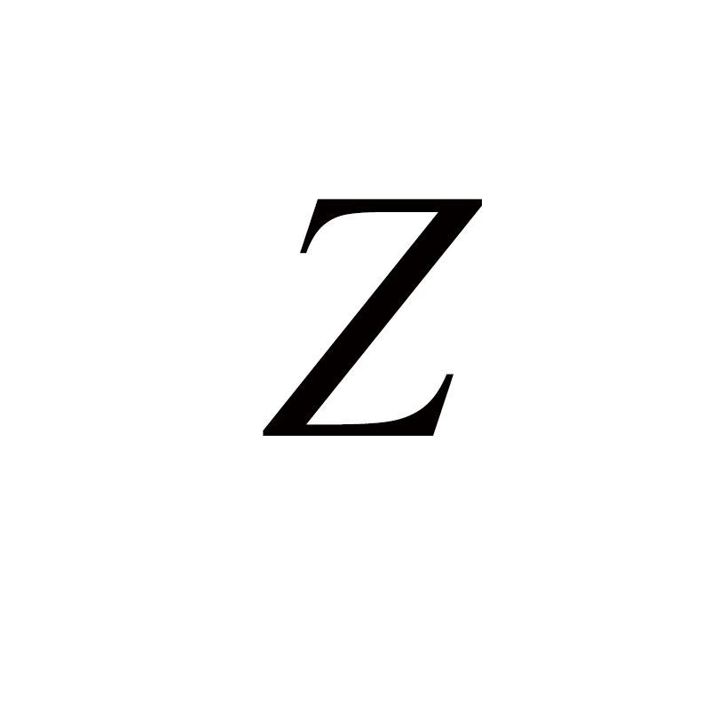 Персонализированные ручные штампованные A-Z, 26 букв, начальные крошечные кольца в виде сердца для женщин, золотые кольца на палец, ювелирные изделия - Цвет основного камня: Z