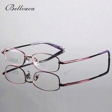 Bellcaca из чистого титана, Женская оправа для очков, очки по рецепту, компьютерные оптические прозрачные линзы, очки, оправа для женщин, BC285