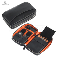 GALINER Gadgets Leather Travel Cigar Case Portable Outdoor Humidor Bag Cigars Storage Box Fit 5 Cuban Cigar With Gift Box