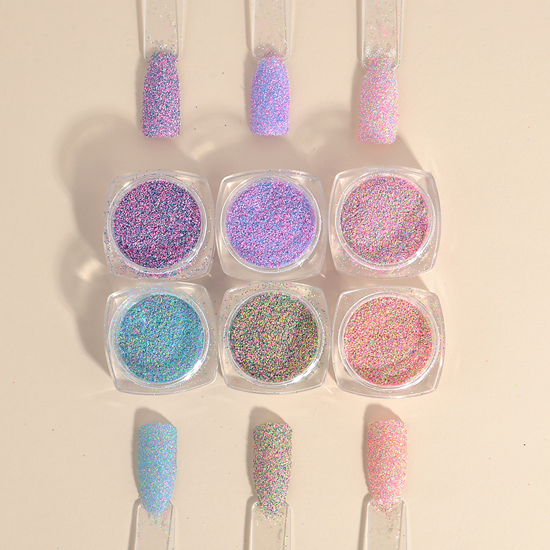 2g New Dazzling Finest Mixed Colors Nail Powder Nail Galitter Nail Art Decoration Manicures Women Nails DIY Decoration their finest