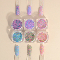 2g New Dazzling Finest Mixed Colors Nail Powder Nail Galitter Nail Art Decoration Manicures Women Nails DIY Decoration