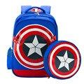 Mochila de Los Nuevos Vengadores Capitán América alumnos Bolsa niño madre escudo ENVÍO GRATIS