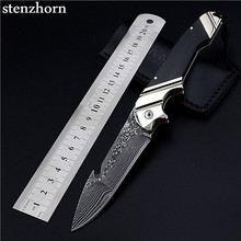 Stenzhorn Special Offer Rushed 2016 Quality Authentic Self-defense Damascus High Hardness With Wild Fruit Folding Outdoor Knife