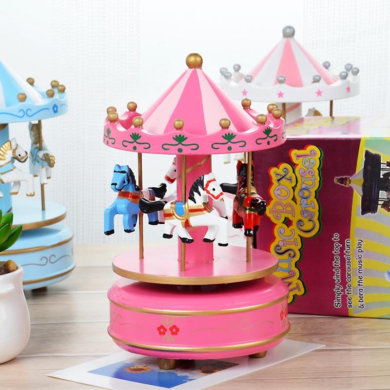 Romantic Birthday Gift Carrousel Cheap Music Box For Girlfriend Children's Music Box Toy