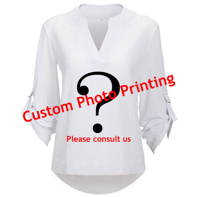 Custom Printing Chiffon Blouse Custom Pattern Printing Womens Tops and  Blouses Office Blouse Plus Size Shirt Please consult us ba4157541e