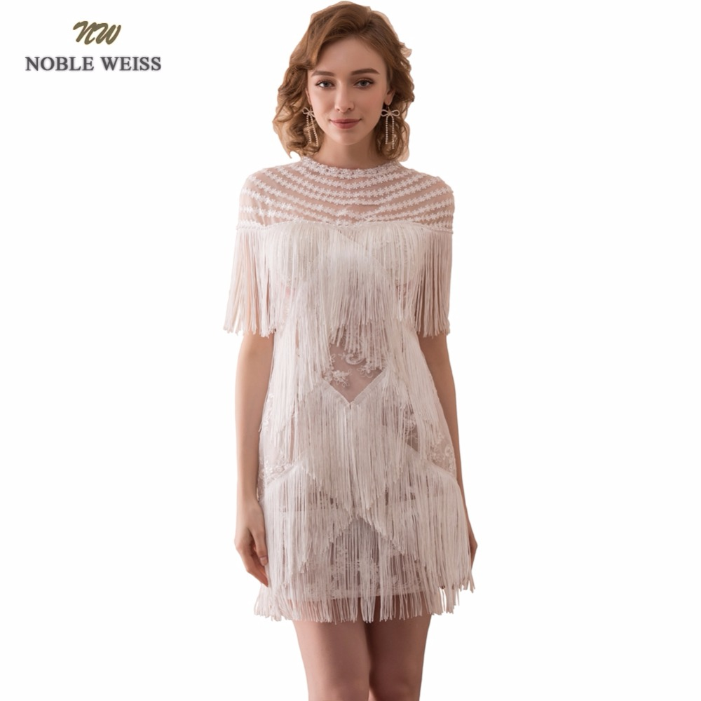 NOBLE WEISS Sexy Lace Prom Dress See Through Mini Junior School Prom Gown Mermaid Special Occasion Dresses