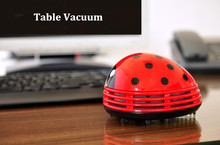 Mini Ladybug Vacuum Cleaner Desktop Coffee Table Vacuum Cleaner Dust Collector for Home Office цена и фото