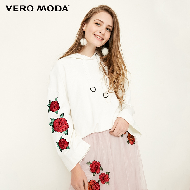 Vero Moda Spring Embroidery Patch Hooded Top 318133511