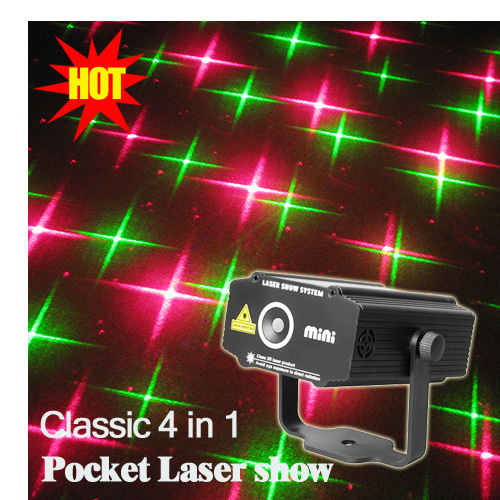 Classic Mini Pocket Sound Active Multi-pattern Green Red RG Laser Stage lighting Projector DJ Show Wedding Xmas Bar Party Light