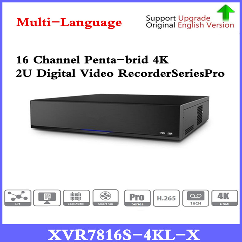 Original 16ch XVR7816S-4KL-X 16 Channel xvr 4K 2U Digital Video Recorder H.265+ support HDCVI/AHD/TVI/CVBS/IP video inputs original x7296a 375 3290 xvr 100