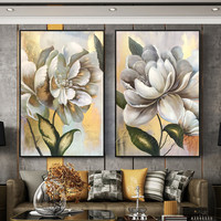 Canvas painting cuadros decoracion acrylic gold and gray painting Wall art Pictures for living room modern abstract qudraos104