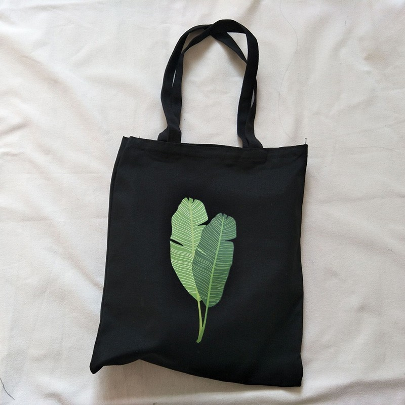 Canvas Tote Bag For Women 2019 Female Handbags Eco Reusable Cloth Shopping Bag Student Book Bags Ladies Casual Shopper Bag Black