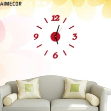 Wall Clocks Aimecor Happy Gifts High Quality Three Colors Modern Wall Clock Living Room DIY 3D Home Decoration Mirror Art Design