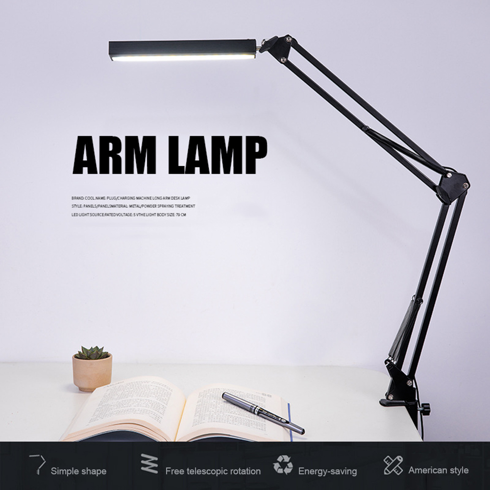 Super Bright Desk Lamp Folding Reading Light Energy Saving Flexible Eye-protection Lamps Stepless Dimming Office Table Lamp aifeng eye protection table lamp flexible metal gooseneck lamp study stepless dimming usb led desk lamp reading lamp