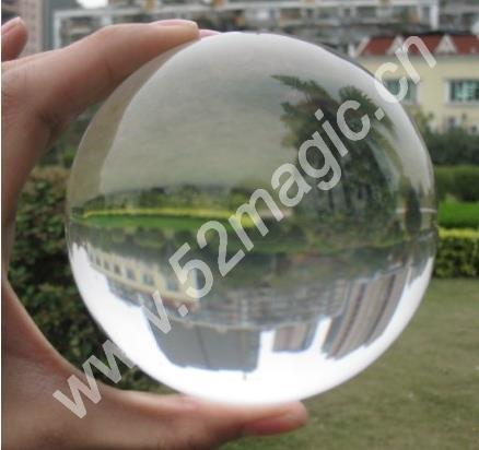 ultra claro acrilico crystal ball 100 mm truque contato com a bola malabarismo acessorios mentalismo