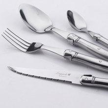 Europen Design 24 Piece Top Stainless Steel Dinnerware Sets Cutlery Tableware & Dinnware Gift box Steak Knife Fork Dpoon