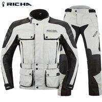 Free shipping 1set Men's Winter Waterproof Reflector CE Armor Protective Moto Jacket Keep Warm Racing Motorcycle Jacket&Pants