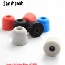 T100(3mm Hole) Memory Foam Earphone Caps Cover in ear Eartips Sponge tips Ear Pads Earbuds Cups for Headset headphone Earplug 20pcs 10pairs silicone in ear earphone covers earbud bud tips headset earbuds eartips earplug ear pads cushion for earphone mp3