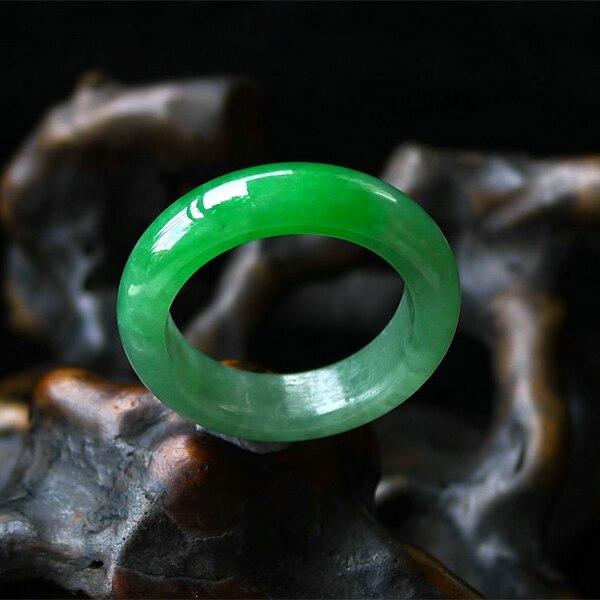 Birman naturel un vert yu vert anneau couleur haricot vert plein nom de glace variété anneau yu pour hommes et femmes/