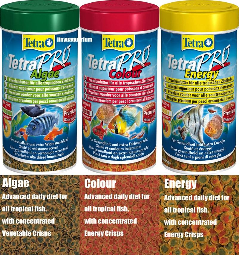 TetraPro Algae Colour Energy tropical fish food crisps ...