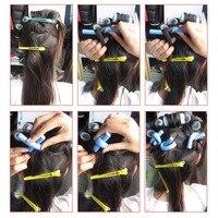 10 шт. DIY бигуди для волос мягкие волосы ролики бигуди хлопок перлы волос Roll кудри бублики Бенди flexi стержни спираль магии локон завивки