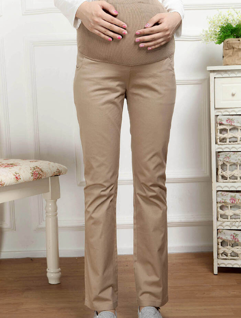 Cotton Maternity Women Pregnant Clothes Pants Plus Size Straight Office Work Spring Autumn Pregnancy Trousers Clothing