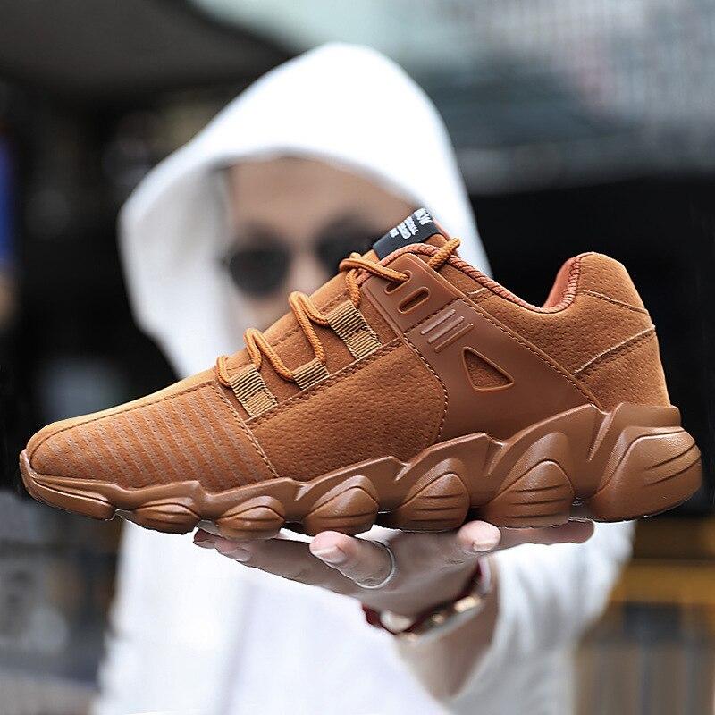 Casual Gris Hombre chocolate Estilo Otoño 46 Negro Gamuza De Zapatos Hombres Amarillo Moda 39 gris Encaje Negro Impermeable 5CqAzz
