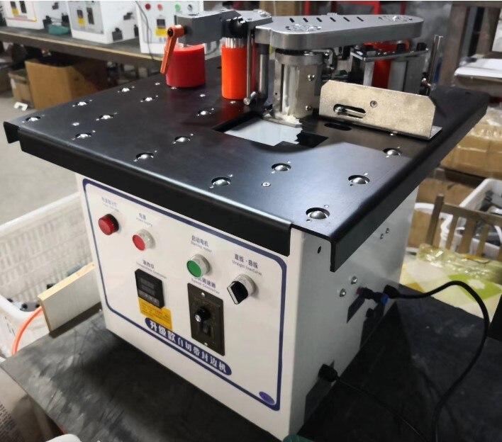 MY-07 мини ручной деревянный ПВХ кромкооблицовочный станок с резки станок для облицовывания кромок ПВХ сам и контроль скорости - Цвет: MY07D  ball table