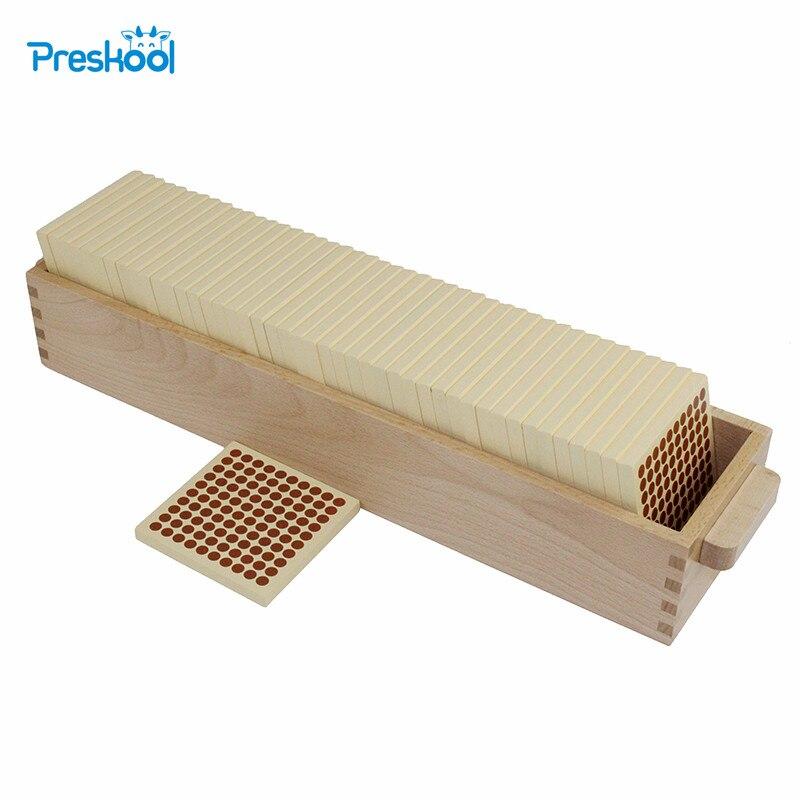 Montessori mathématiques aides pédagogiques maternelle enfants puzzle jouets en bois 45 cent carrés en bois