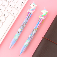 2Pcs/lot 6 Colors Cute Unicorn Cartoon Ballpoint Pen School Office Supply Gift Stationery Papelaria Escolar