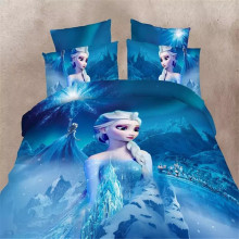 disney cartoon Frozen Elsa bedding sets single twin size 2/3/4pc princess anna girls kids babys room decor 3d bed linens sheets