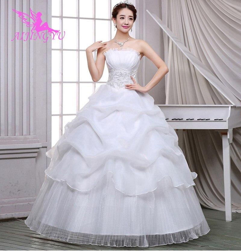f39a77f8912 AIJINGYU 2018 брак Бесплатная доставка Распродажа новинок дешевые бальный  наряд на шнуровке сзади торжественное невесты платья