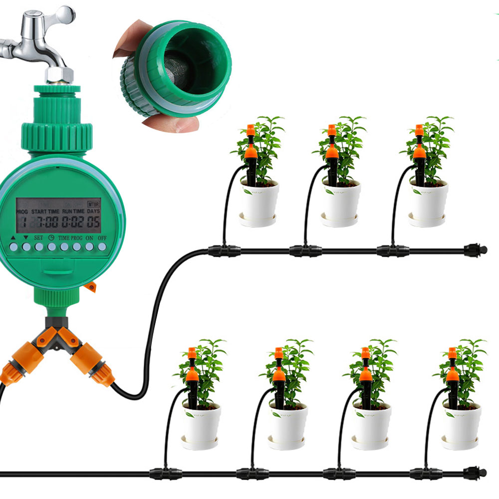 Automatic Smart Water Timer Garden  Sprinkler Irrigation Controller LCD Display Intelligent Watering Timer Drip Irrigation Timer(China)