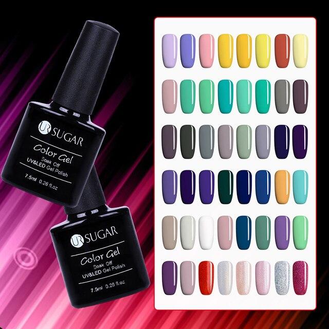 UR SUGAR LED Gel Nail Art DIY Design 112 Colors 7.5ml Soak off Organic Odourless UV Nail Gel Polish