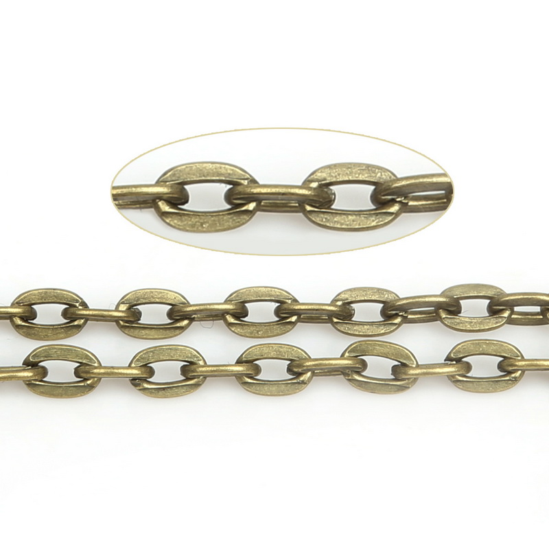 Gold Chain Gun Metal Chain Silver Chain Rhodium Chain Necklace Chain Bronze Chain 5 Meters of Steel Ball Chain 2.4mm