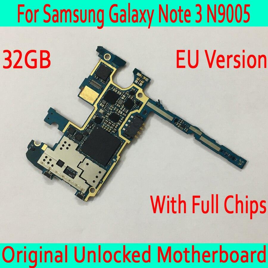 32GB for Samsung Galaxy Note 3 N9005 font b Motherboard b font Original unlocked for Samsung